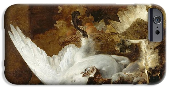 Still Life With A Dead Swan IPhone Case by Jan Weenix