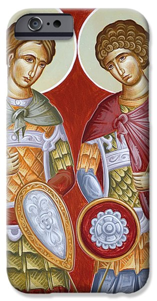 Sts Dimitrios And George IPhone Case by Julia Bridget Hayes