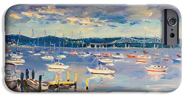 Sun And Clouds In Hudson IPhone Case by Ylli Haruni