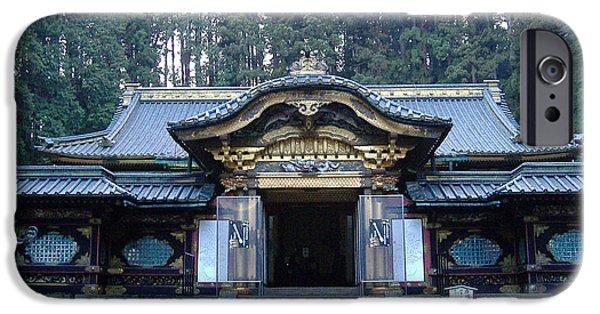 Temple Building IPhone Case by Naxart Studio