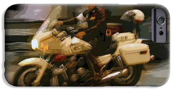 Thai Motorbike Police IPhone Case by Kantilal Patel