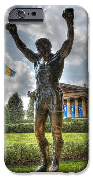 The Bronze Stallion - Rocky Balboa - Philadelphia - Pennsylvania - Rocky Steps IPhone Case by Lee Dos Santos