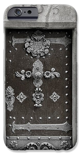 The Door - Ceske Budejovice IPhone Case by Christine Till