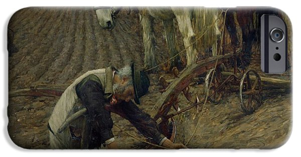 The Last Furrow IPhone Case by Henry Herbert La Thangue