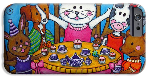 The Little Tea Party IPhone Case by Lisa  Lorenz
