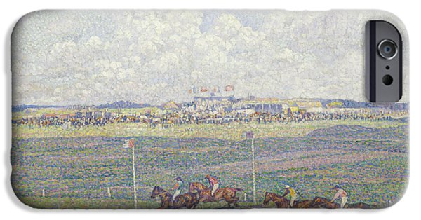 The Racecourse At Boulogne-sur-mer IPhone Case by Theo van Rysselberghe
