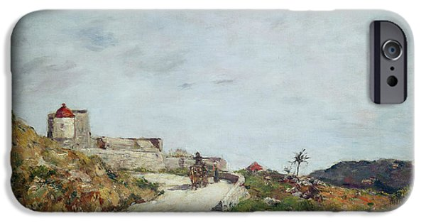 The Road To The Citadel At Villefranche IPhone Case by Eugene Louis Boudin