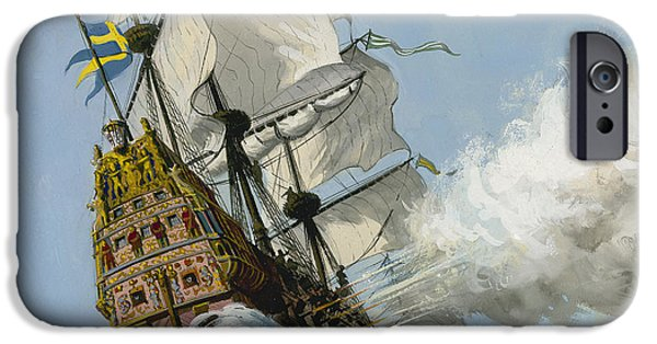 The Swedish Warship Vasa IPhone Case by Ralph Bruce