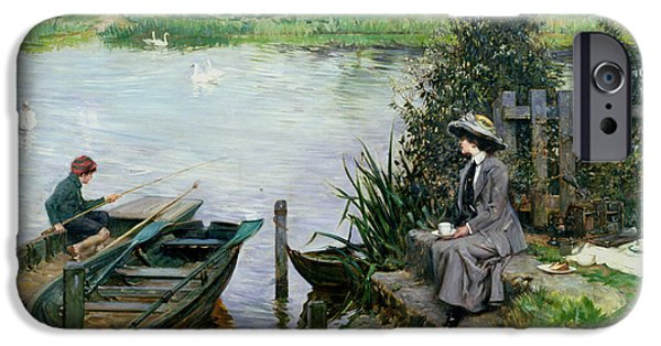 The Thames At Benson IPhone Case by Albert Chevallier Tayler