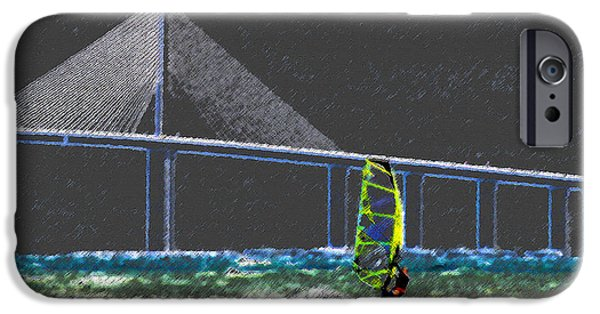 The Wind Surfer IPhone Case by David Lee Thompson