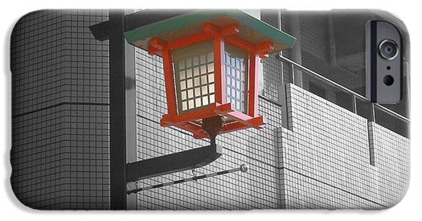 Tokyo Street Light IPhone Case by Naxart Studio