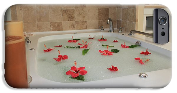 Tub Of Hibiscus IPhone 6s Case by Shane Bechler