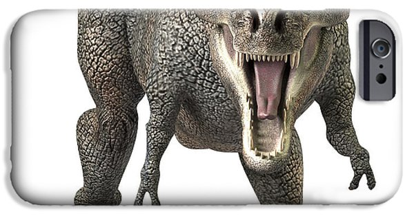 Tyrannosaurus Rex  IPhone Case by Roger Hall and Photo Researchers