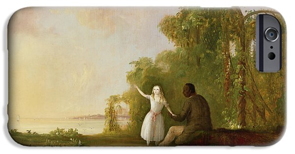 Uncle Tom And Little Eva IPhone Case by Robert Scott Duncanson