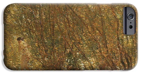 Under The Alders IPhone Case by Childe Hassam