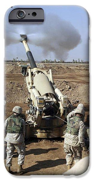 U.s. Marines Engage Enemy Targets IPhone Case by Stocktrek Images