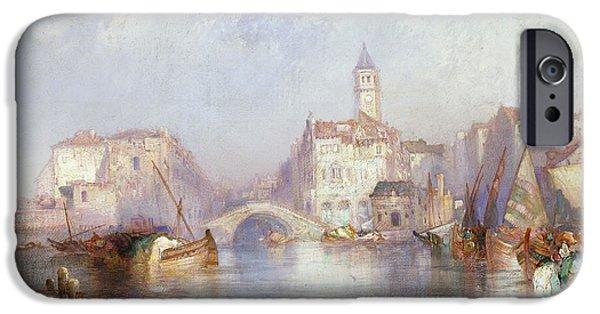 Venetian Canal IPhone Case by Thomas Moran