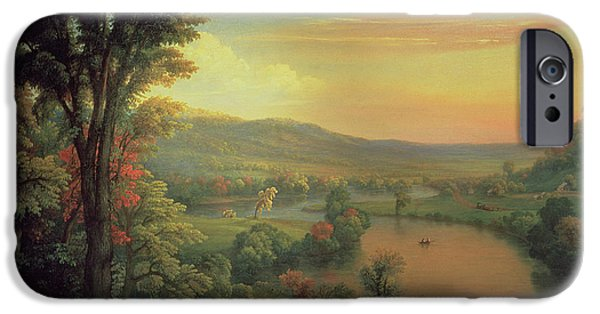 View Of The Mohawk Near Little Falls IPhone Case by Mannevillette Elihu Dearing Brown