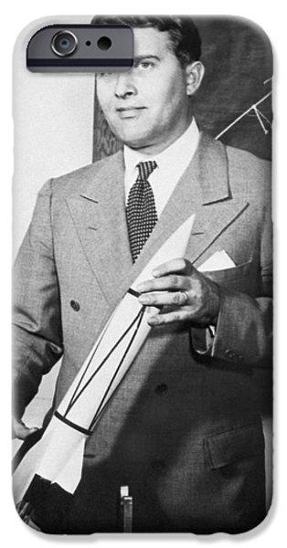 Wernher Von Braun, German Rocket Designer IPhone Case by Nasa