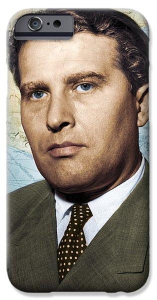 Wernher Von Braun, German Rocket Pioneer IPhone Case by Detlev Van Ravenswaay