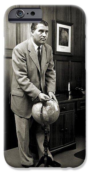 Wernher Von Braun, German Rocket Pioneer IPhone Case by Nasavrs