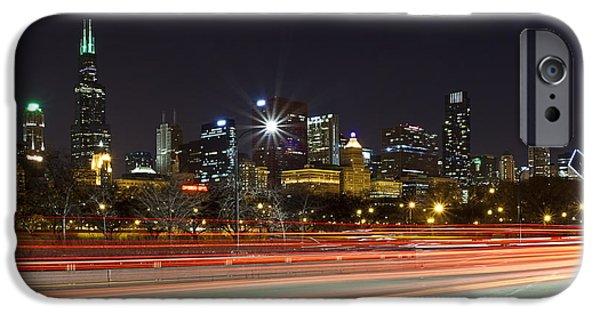 Windy City Fast Lane IPhone Case by CJ Schmit