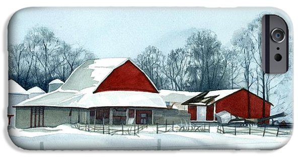 Winter Respite In The Heartland IPhone Case by Barbara Jewell