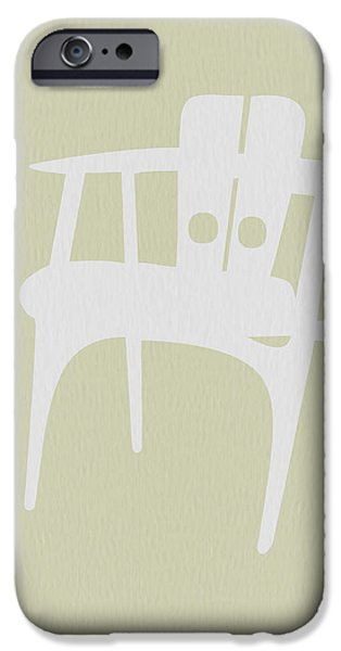 Wooden Chair IPhone Case by Naxart Studio