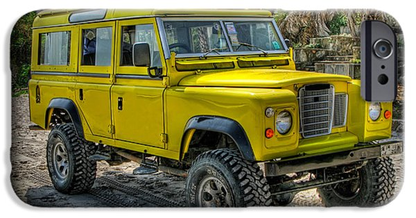 Yellow Jeep IPhone Case by Adrian Evans