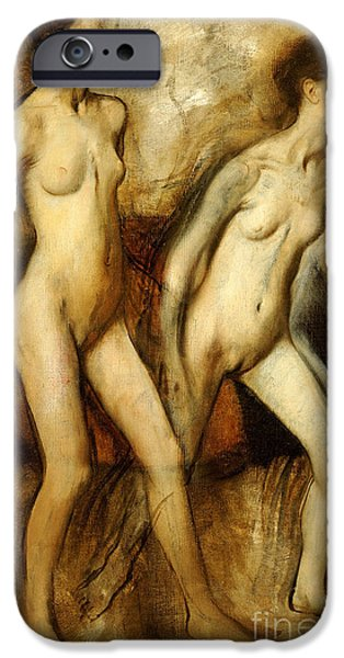 Young Spartan Girls Provoking The Boys IPhone Case by Edgar Degas