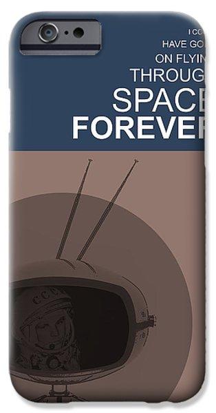 Yuri Gagarin Poster IPhone Case by Naxart Studio