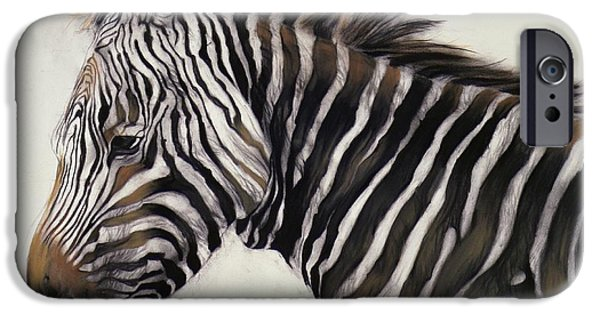 Zebra  IPhone Case by Odile Kidd