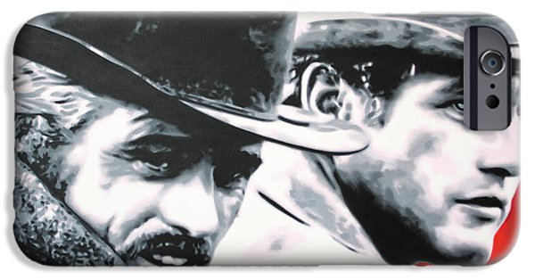 - Butch Cassidy And The Sundance Kid - IPhone Case by Luis Ludzska