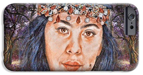 Filipina Beauty, Kaye Anne Toribio.in A Mystical Forest II IPhone Case by Jim Fitzpatrick