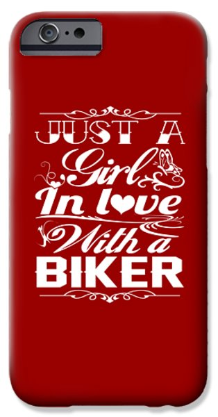 In Love With A Biker IPhone Case by Sophia