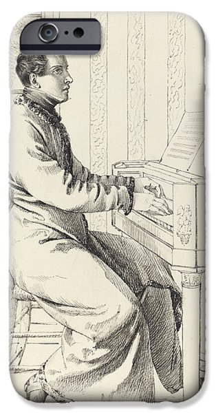 Preparing To Play The Piano IPhone Case by Ludwig Emil Grimm