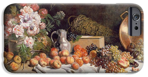 Still Life With Flowers And Fruit On A Table IPhone 6s Case by Alfred Petit