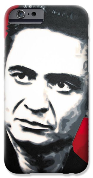 - The Man In Black - IPhone Case by Luis Ludzska