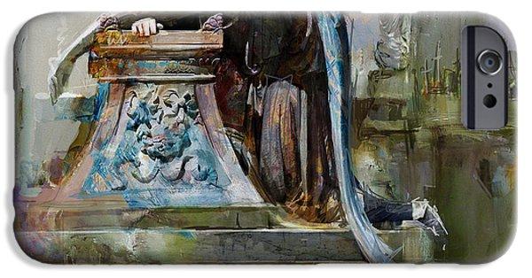 069 Angel Of Grief Glenwood Cemetery-washington Avenue Road Houston Texas IPhone Case by Maryam Mughal