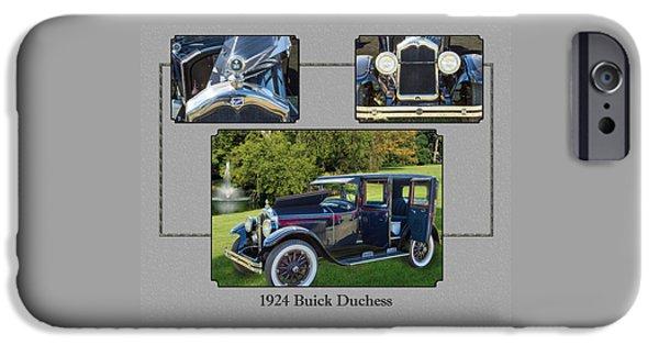 1924 Buick Duchess Antique Vintage Photograph Fine Art Prints 120    IPhone Case by M K  Miller