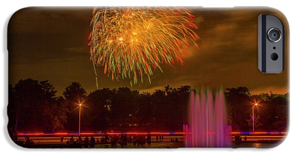 4th Of July Fireworks In Forest Park IPhone Case by Garry McMichael