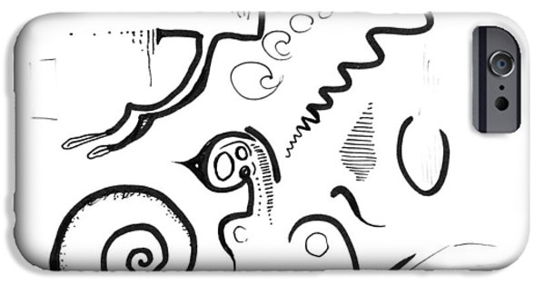 Abstract Ink Sketch IPhone Case by Ralf Schulze