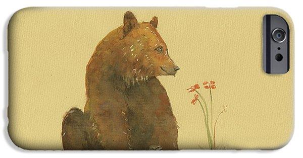 Alaskan Grizzly Bear IPhone 6s Case by Juan Bosco