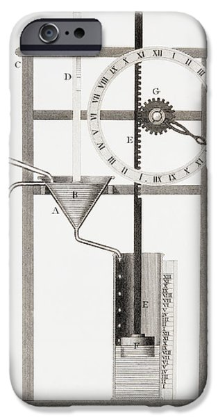 An Ancient Clepsydra Or Water Clock IPhone Case by Vintage Design Pics