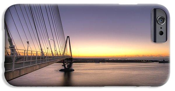 Arthur Ravenel Jr Bridge Sunrise IPhone Case by Dustin K Ryan
