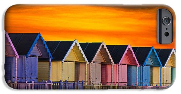Beach Huts IPhone Case by Martin Newman