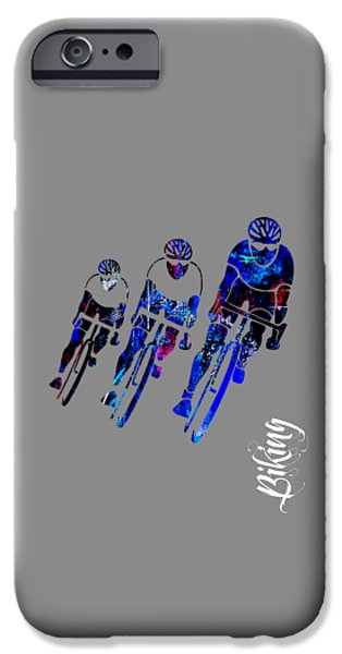 Bike Race IPhone Case by Marvin Blaine