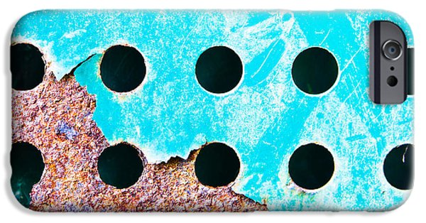 Blue Rusty Metal IPhone Case by Tom Gowanlock