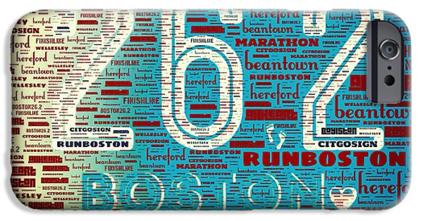 Boston Marathon IPhone Case by Brandi Fitzgerald