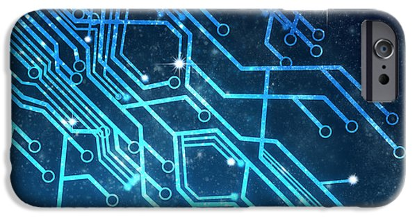 Circuit Board Technology IPhone Case by Setsiri Silapasuwanchai